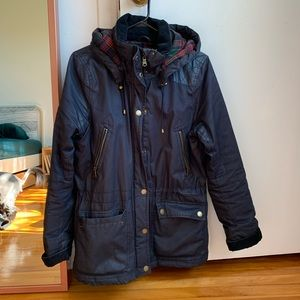H&M women's navy blue jacket size 8